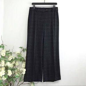 CAbi Plaid Wide Leg Dress Pants